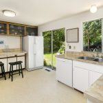 That's a whole lot of kitchen space! Easy indoor/outdoor living, too!